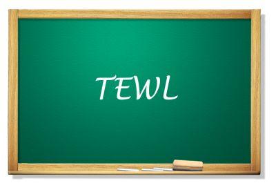 Tablica z napisem TEWL