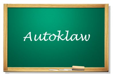 Tablica z napisem Autoklaw