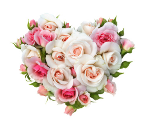 Serce z kwiatów