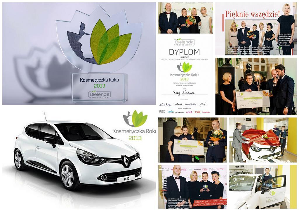 Gala Konkursu Kosmetyczka Roku, Nagrody w Konkursie Kosmetyczka Roku