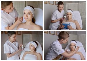Kosmetyczka wykonuje zabiegi kosmetyczne
