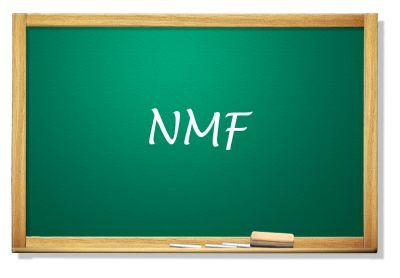 Tabica z napisem NMF