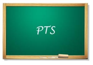 Tablica z napisem PTS