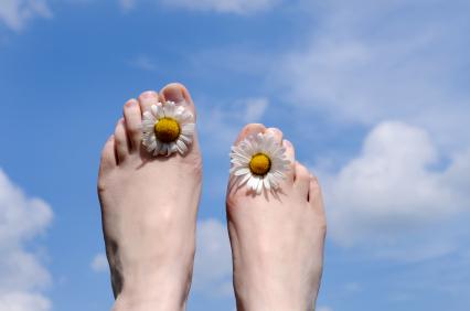 wrastające paznokcie, pedicure